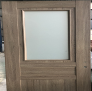 Wpc assembly door with Frosted tempered glass used for toilet door or bathroom door high quality lowest price