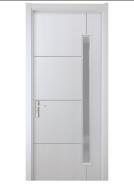 wooden and plastic composite WPC door for bathroom