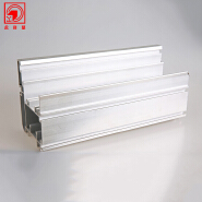 High Quality Partition Anodized Silver Aluminum Profile
