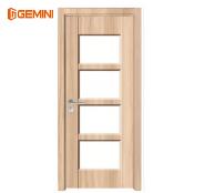 Wood Plastic Composite WPC Door PVC Bathroom wood door with glass