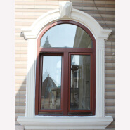 Factory Price Invisible Casement Half Round Wood Window