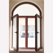 High Quality Solid Wood Door And Window In Round Shape