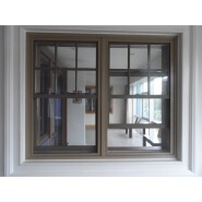 American style solid wood single/double hung window