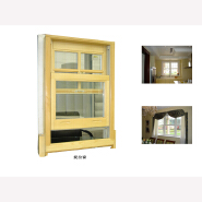 American Style Solid Wood Double Hung Safety Window Grill Design