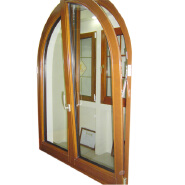 Classic Tilt Turn Opening Arched Wood Window Designs