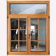 Security Side Hung Solid wood Casement Window