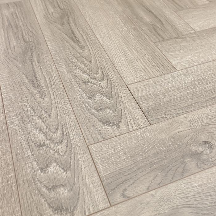 12mm AC4 Waxing Woodtexture Grey Series herringbone laminate flooring