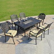 Derong Furniture Co.,Ltd. Outdoor Aluminum Table & Chair