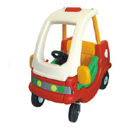 Plastic double kids fire car for preschool and home