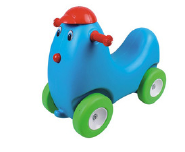 Plastic indoor rocking horse series chicken car for baby