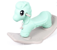 China cheap plastic cute animal rocking horse toys for kid with EN71 TU