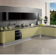 New Design of OPPEIN Acrylic Sheets for Small Wholesale Kitchen Cabinet
