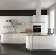 OPPEIN high gloss affordable acrylic small kitchen cabinets