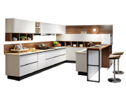 Guangzhou Made Affordable Modern Custom White Kitchen Cabinets