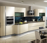 OPPEIN Acrylic and Flat Laminate Kitchen Cabinet Wooden Cabinets Interior Home Design