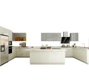 OPPEIN new home custom made white modular kitchen cabinet