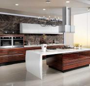 OP13-285 Wood Veneer Lacquer Acrylic Guangzhou Wholesale export Appliance Custom Kitchen Cabinet Door board Furniture