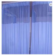 Flame retardant antibacterial durable medical curtain dividers