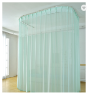 100% Polyester stripe antibacterial medical hospital bed cheap curtains