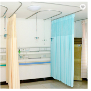 Medical partition curtains with mesh