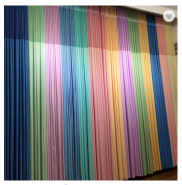 fire retardant medical clinic antibacterial hospital curtain fabric