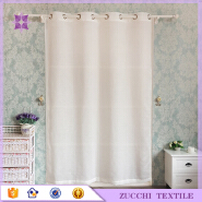 Solid Color White Shiny Linen Tulle Plain Transparent Voile Curtain