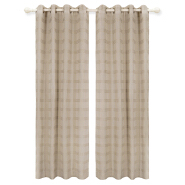 High Quality Cheap Polyester Simple Solid Stripe Sheer Curtain For Supermarket