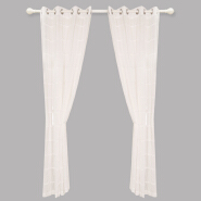 clipped sheer polyester voile grommet curtain drapes