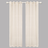 Fancy Living Room Voile Curtain Simple Stripe Curtain Fabric