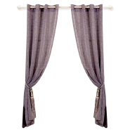 Woven Polyester Solid Voile Transparent Curtain Living Room Door Sheer Luxury Home Decor