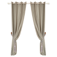 Plain Linen Middle East Curtains Living Room Drape For Home Window