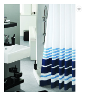 Blue Style Printed Custom Peva Western Shower Curtains