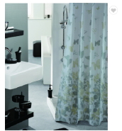 Popular Satin And PE Material Shower Curtains