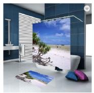 Custom European Bathroom European Sea Building Home Goods Shower Curtain