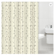 100% polyester printed create your own yellow shower curtain