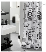China Alibaba Factory Custom-Made 100% Polyester White Shower Curtain