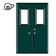 Factory hot sell emergency exit 2 hours steel fire rated doors with panic bar