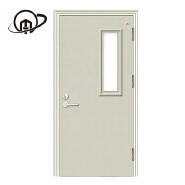High Quality Fireproof Security Steel Fire Rated Glass Door