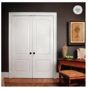 Classic white luxury interior double wooden door