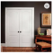 Classic white luxury interior double wooden door