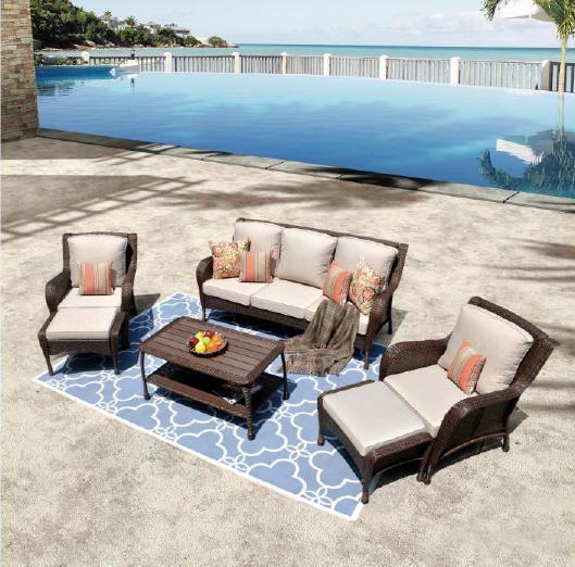 Garden furniture outdoor sofa set rope woven outdoor furniture 004