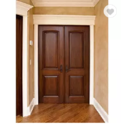 Classic Four panel solid interior position double wooden door