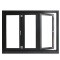 china factory horizontal aluminium bifold fold up window