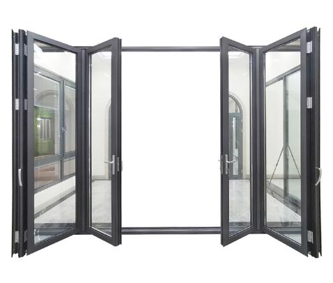 Aluminium bifold bathroom balcony door