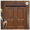 Luxury Design Painting wooden double leaf villa entry door design