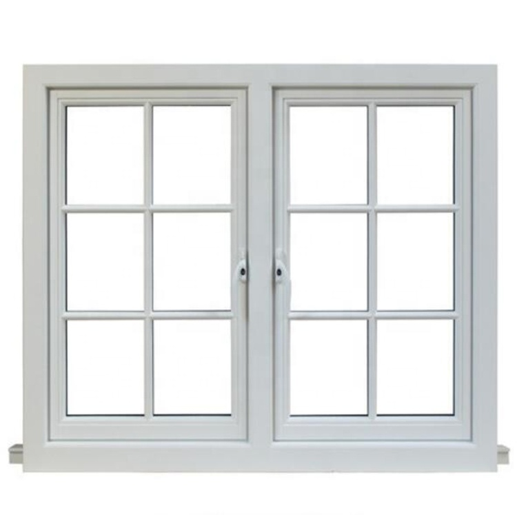 french style Upvc frame casement glass windows