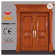 Luxury Design Painting wooden double leaf villa main entrance doors