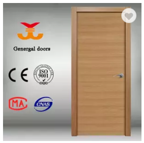 CE natural veneer laminated flush Wooden door