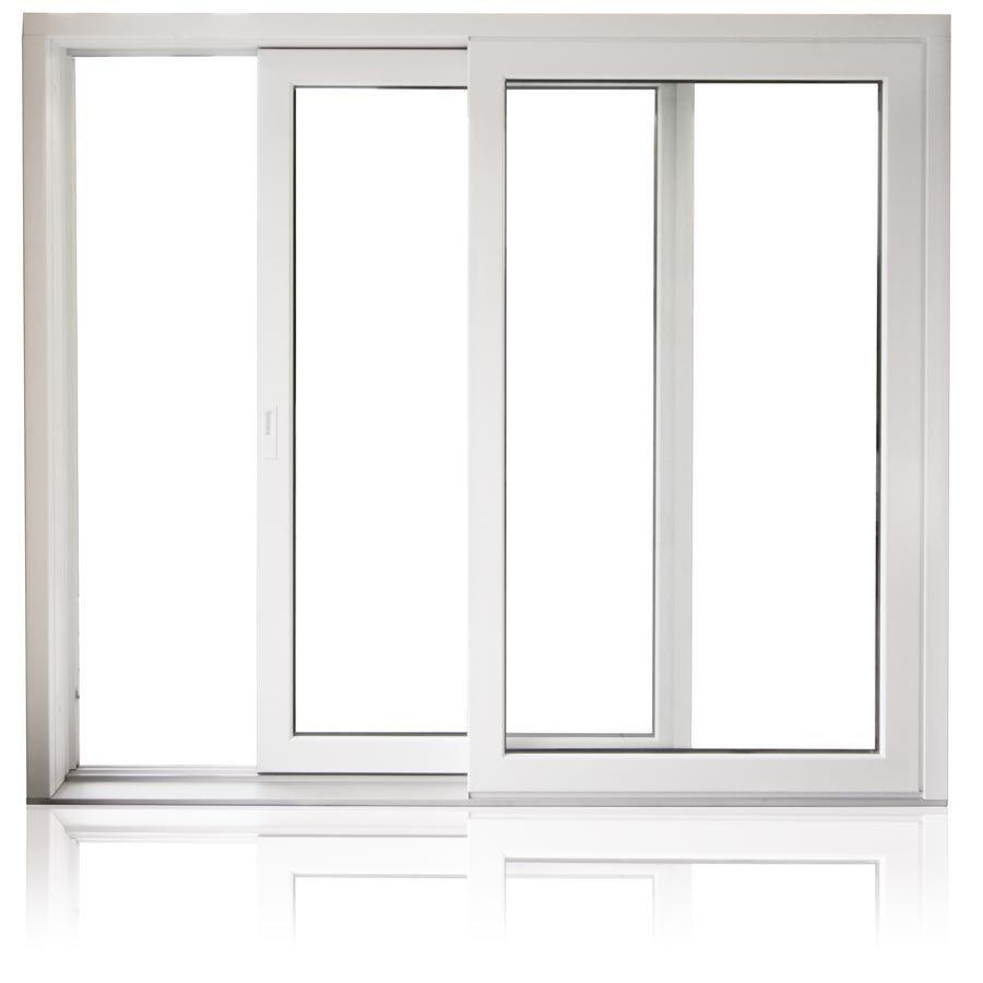 pvc double glass sliding window
