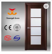 CE Veneerd wooden interior doors with glass inserts